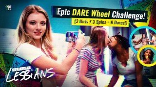 3 Hot Lesbians - Crazy DARE Competition Gets Sexual