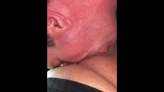 Longer video of 40+ sucking my chub cock (no cum)