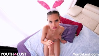 laura latina bunny receives a cumshot youthlust – teen porn