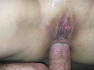 Getting My Tight Butthole Fingered & Fucked - Shaking Girl Orgasm & Cum Splashed
