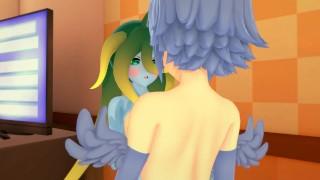(3D Hentai)(Lesbian)(Monster Musume) Slime x Harpy Papi