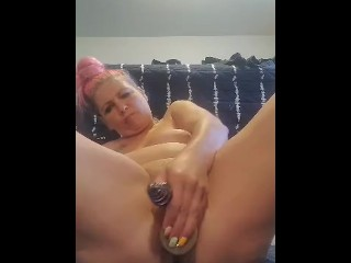 Horny wife sukie rae fucks both holes with toys
