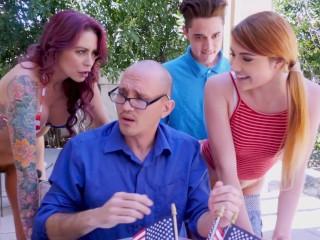 BANGBROS - Awesome 4th Of July Threesome With Monique Alexander, Adria Rae & Juan El Caballo Loco