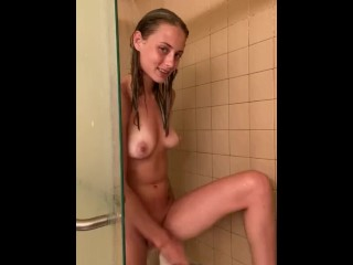 Kyler Quinn shaves her pussy and show you why girls take so long to shower