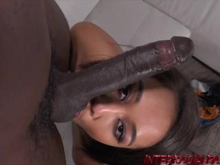 Filipina Aria Skye takes on her first massive black cock