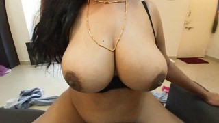 Karisma S6E4 Slutty Indian with Huge Tits Fucks Landlord to Save Rent