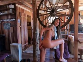 Naughty brunette fucking tasty in the country house - Ana Rothbard