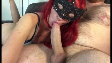 I Love Sucking This Cock But My Mask Falls Off When He Cums, So I Suck Some More
