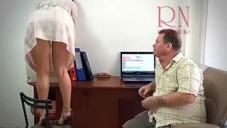 The boss is fucking the secretary girl. 1