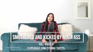 Smothered and Kick by a Ninja