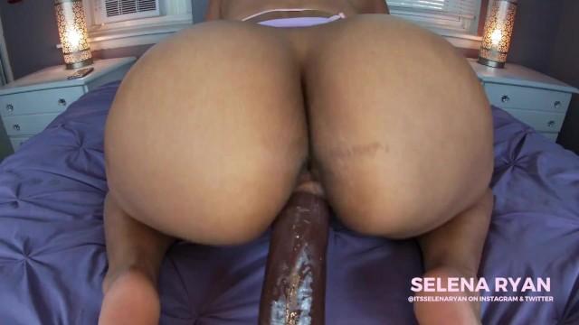 Big Butt Latina Riding Dildo