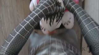 Gwen Stacy Venom Throat Fucked (Cosplay, Gagging and Spitting)