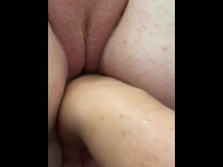 BBW Lesbian Fingers Redhead Girlfriend