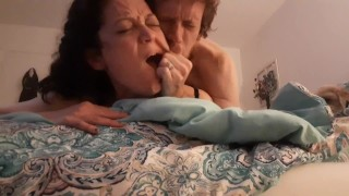 Painful Doggy Fish hooking wife
