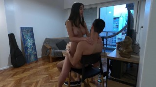 HOT College student volunteers for nude modeling but ends up covered in cum - Amateur sex