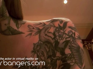 VR BANGERS Tattooed Wife Gets Fucked By Plumber
