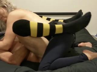 Hot strapon pegging session – she fucks him really hard and deep – MIN MOO