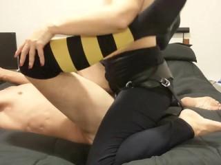Hot strapon pegging session - she fucks him really hard and deep - MIN MOO