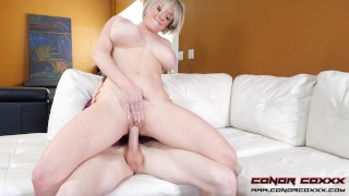 Busty Blonde MILF Dee Williams Rides & Sucks Big Young Cock
