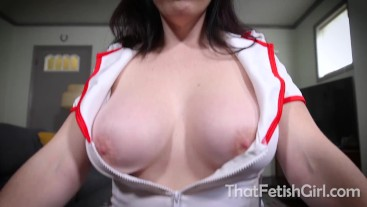 Naughty Nurse Tricks You For Your Jizz