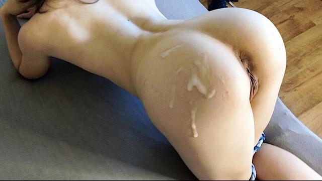 Ass cum on her Cum On