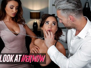 LookAtherNow - Hot Maid Liya Silver Sharing Cock With Alyssia Kent In 3some