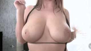 Angela White x James Deen All Natural Busty Babe Fucked Hard by Huge Cock