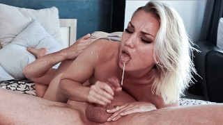 Oral joys of a young couple.Pose 69