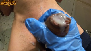 the most beautiful moment after waxing is the unexpected ending ... wet and creamy cum ....60FPS #2