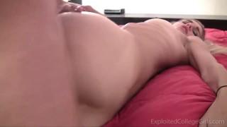 18 yo Freshman Leanne Gets Mega & Dick Fucked On Camera!