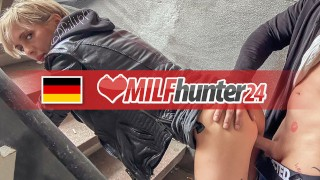 MILF Hunter nails skinny MILF Vicky Hundt in an abandoned place! milfhunter24
