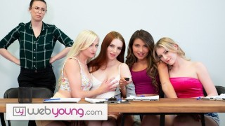 webyoung lesbian focus group has a foursome wet result with melody marks – teen porn