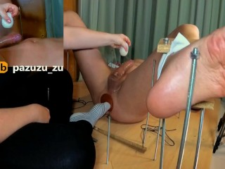 Amateur. I Fuck his Asshole with a 40 cm toy and I Ruined his Orgasm with a Tenga Egg