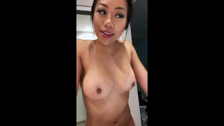 Sexy Asian Only Fans and IG Star Trucici does a custom dick rating video