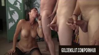 Golden Slut - Mature Blowbang Compilation Part 3