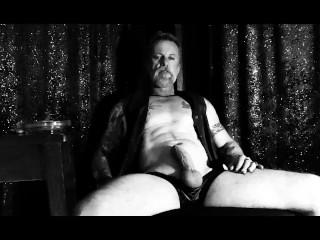 Watch My Cigar Smoking Leather Man Jerk His Big Cock