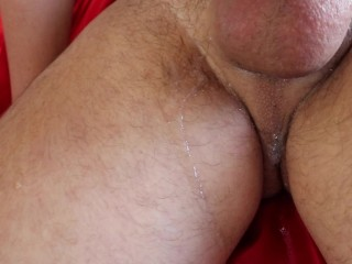 close up oral creampie cumshot overflow too much cum i drain his balls empty