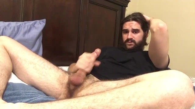 Hairy Stud Dirty Talking & Edging With Multiple Cumshots