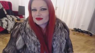 German Redhead Goddess in Fur Coat