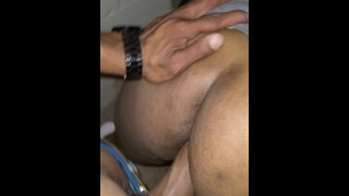 Girl friend wanted her ass fucked at friends house on stairs