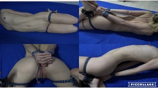 Chilling With Stepsis - Leashed , Ballgagged & Hogtied While Mom & Dad Are On Vacation! 4K UHD