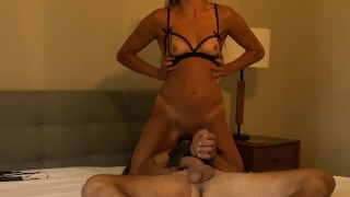 Dominant Femdom Milf Demands to Sit and Squirt on Her Subs Face—CumPlayWithUs2
