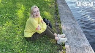 Webcam girl sucked in the park for money || Murstar