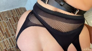 Wife love sexy lingerie, stockings and good sex. LeoKleo