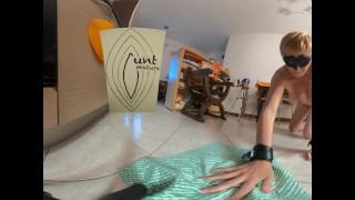 Slave girl mops floor 360 VR