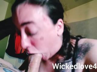 Romantic super sucking tight n SLOW sloppy CUM IN MOUTH
