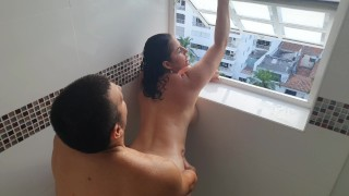 kathalina777 nails hard and delicious in the bathroom while her neighbors see her – teen porn