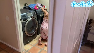 Fucked my step-sister while doing laundry