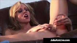 Self Pleasuring Busty Milf Julia Ann Orgasms Dildo Drilling!