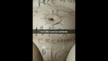 Your wife's body - our target for cumming now! [Cuckold. Snapchat]